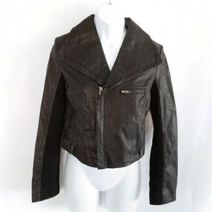 🔥NWOT Improvd Leather Moto Jacket genuine Leather